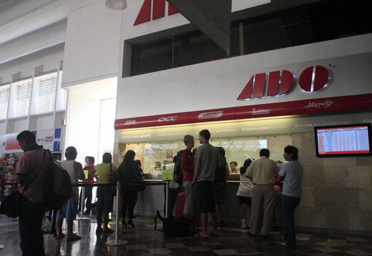 La terminal de Autobuses en Chetumal presentó una afluencia del 5% más que el año pasado durante las vacaciones de verano. (Claudia Martín/SIPSE)