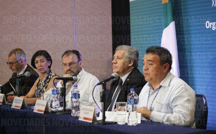 Luis Videgaray inició la conferencia de la OEA. (Jesús Tijerina/ SIPSE)