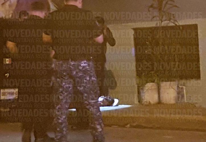Autoridades municipales acordonaron el área para iniciar la investigación correspondiente. (Foto: SIPSE)