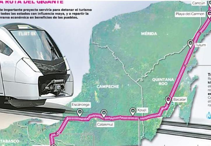 El megaproyecto se propone trasladar a los turistas a lo largo de la Riviera Maya, hasta la Península de Yucatán. (SinEmbargo)