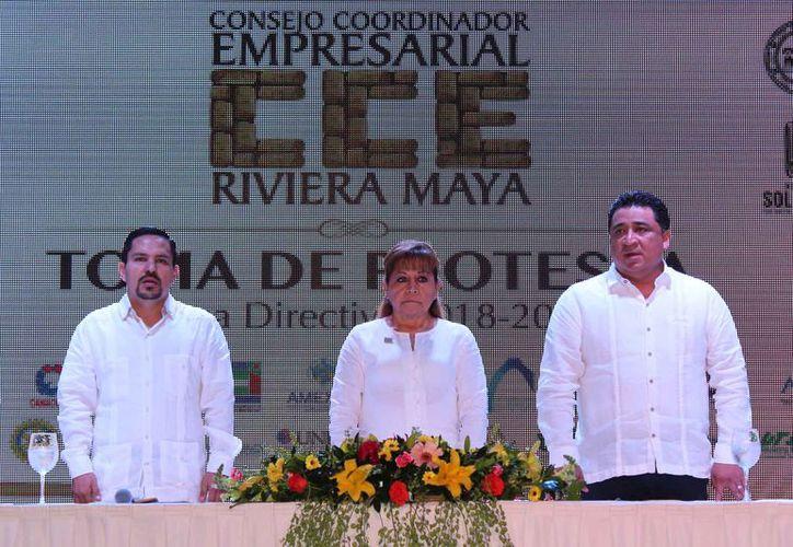 Toma de protesta del Consejo Coordinador Empresarial capítulo Riviera Maya. (Adrián Barreto/SIPSE)