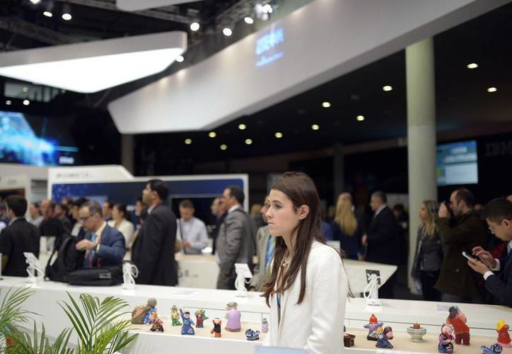 Hoy se dieron a conocer los premios a lo mejor del año en el Mobile World Congress, en Barcelona, España. La foto muestra un aspecto del salón de conferencias. (Agencias)