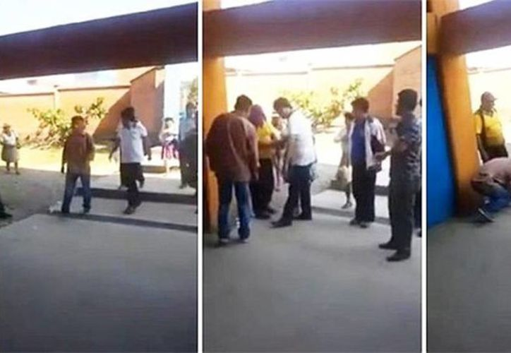 La secuencia del suceso 'paso a paso' donde Evo Morales ordena que le aten el cordón del zapato. (Captura de pantalla)