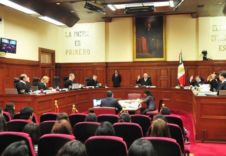 La Suprema Corte resolvió algunos aspectos sobre la responsabilidad de jueces civiles sobre la extinción del dominio. (Notimex)