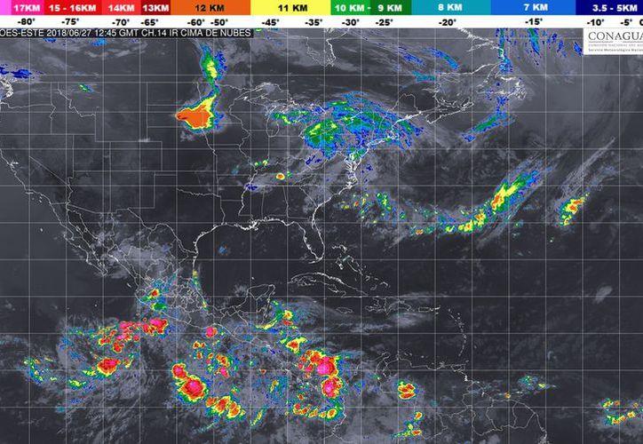 Durante el día de hoy se espera la formación de tormentas matinales.  (Conagua)