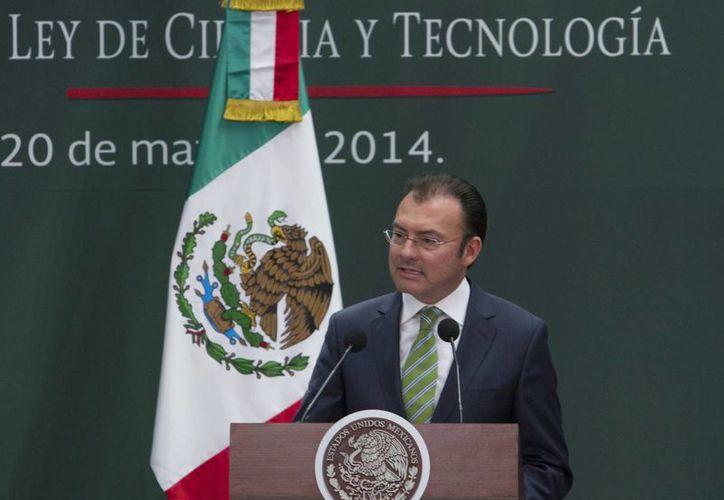 Luis Videgaray admitió que es insuficiente el crecimiento de 2.7 por ciento del PIB. (Notimex/Foto de archivo)