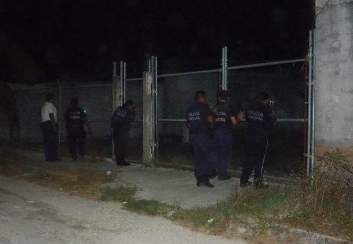 Al llegar a la estructura abandonada, iniciaron la búsqueda de los delincuentes. (Archivo/SIPSE)