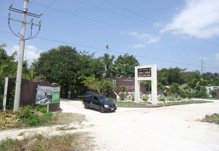 El pasado jueves se hallaron los cuerpos sin vida de una pareja dentro del Motel Chocolate.  (Adrián Barreto/SIPSE)