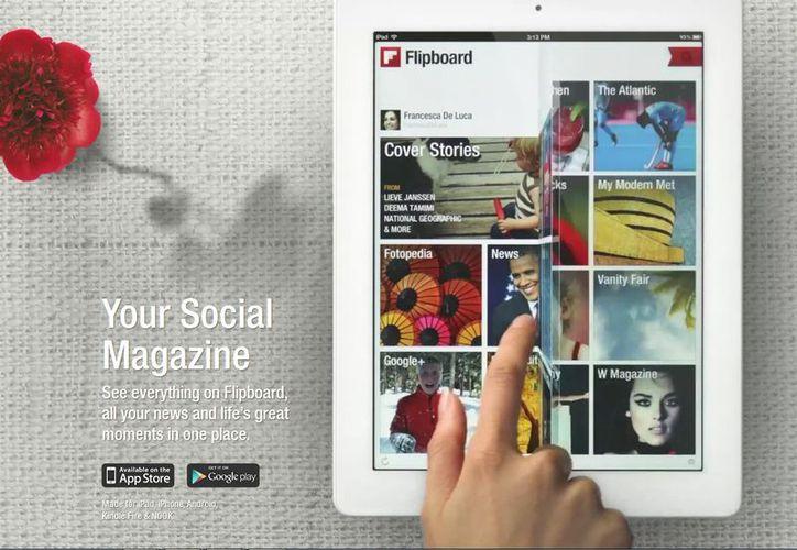 Con el formato en forma de revista de Flipboard permite consultar la información más sencillamente que en otras apps. (flipboard.com)