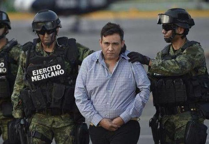 """Omar Treviño Morales, """"El Z42"""", el día que lo presentaron las autoridades a los medios. (Archivo/Agencias/AFP)"""
