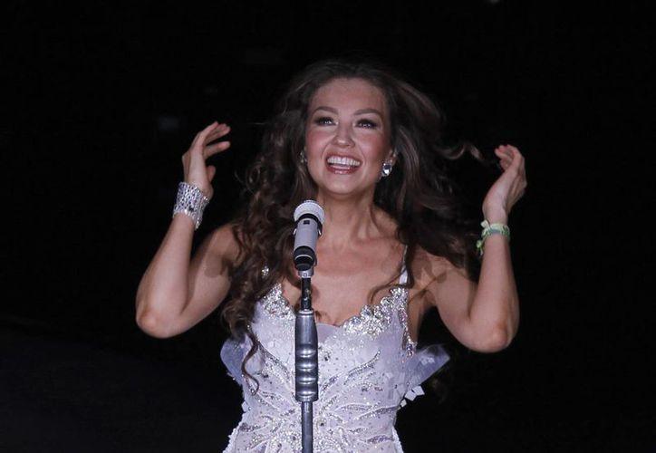 La cantante se dijo feliz de reencontrarse con su público mexicano. (Agencias)