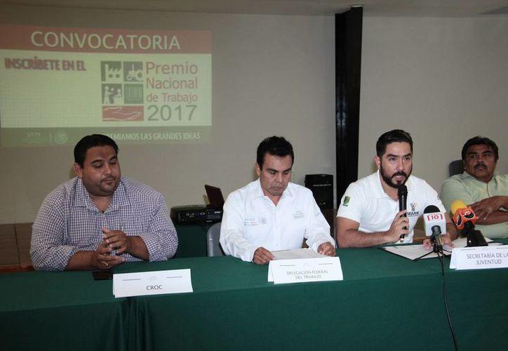 El o los ganadores del Premio Nacional de Trabajo 2017 es de cuatro millones de pesos, se dio a conocer en conferencia. (Jorge Acosta/SIPSE)