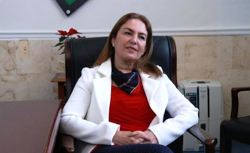 La titular de la Secretaría de Administración y Finanzas, Olga Rosas Moya.
