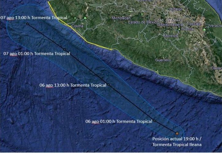 La tormenta tropical se ubica frente a las costas de Oaxaca y Guerrero. (excelsior.com)