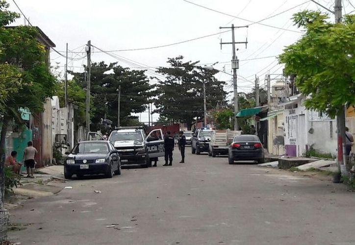 Los hechos se suscitaron frente a un domicilio de la manzana 42, de dicha región. (Eric Galindo/SIPSE)