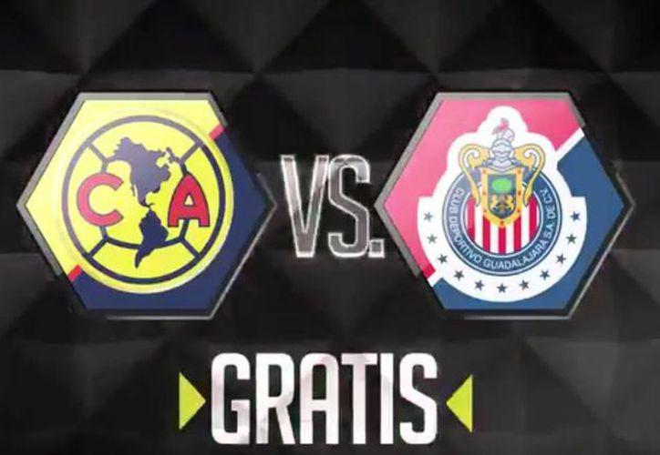 Así anunció Televisa el Clásico Nacional entre las Águilas del América y las Chivas del Guadalajara. (Captura de pantalla/@TD_Deportes)