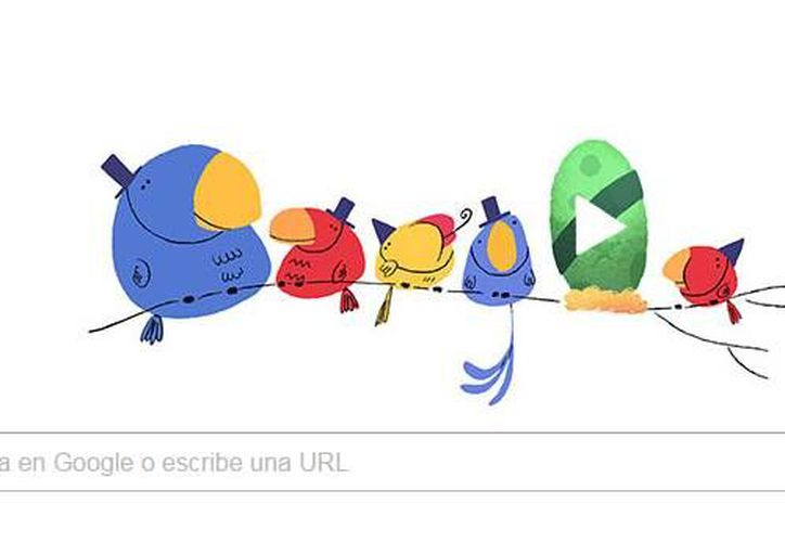 Google celebra el año nuevo mediante un doodle conmemorativo en el que resaltan pajaritos de colores en espera del 2016. (Captura de pantalla)
