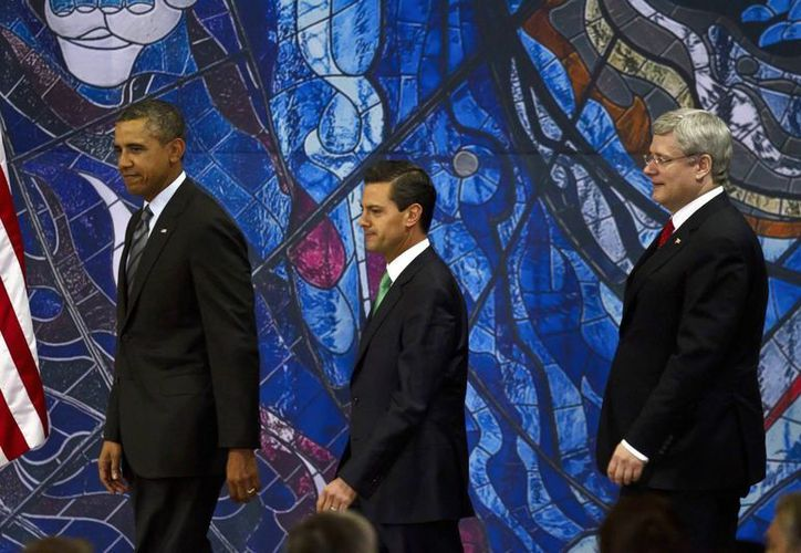Los líderes de EU, México y Canadá pudieron aprovechar la reunión para revisar temas urgentes en común, como el TLCAN. (Notimex)