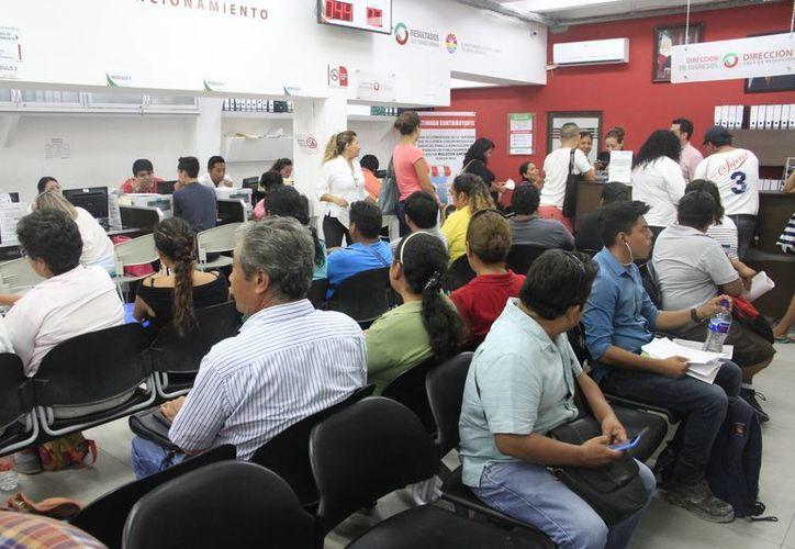 Los ciudadanos aprovecharon el programa para regularizarse. (Tomás Álvarez/SIPSE)