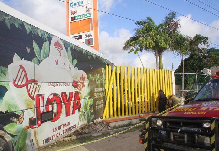 El accidente ocurrió en el kilómetro 333. (Sergio Orozco/SIPSE)