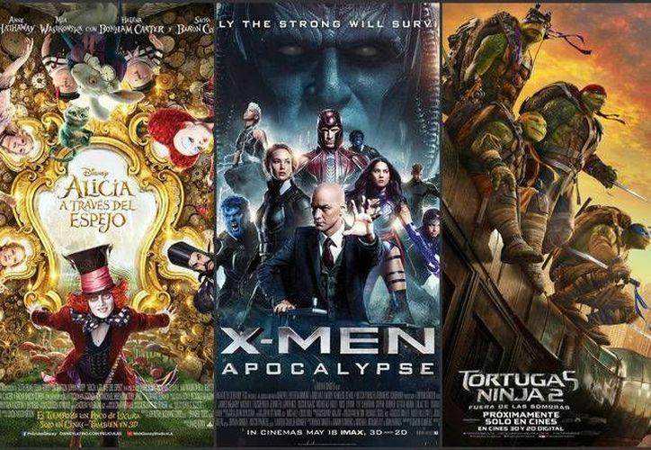 'Alicia a través del espejo', X-Men Apocalipsis y 'Tortugas Ninja 2' son películas que por mucho quedaron lejos del éxito de sus predecesoras. (Milenio Digital)