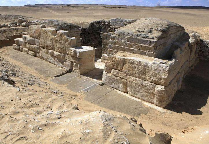 La tumba de la reina desconocida fue hallada cerca de El Cairo por arqueólogos checos. (EFE)