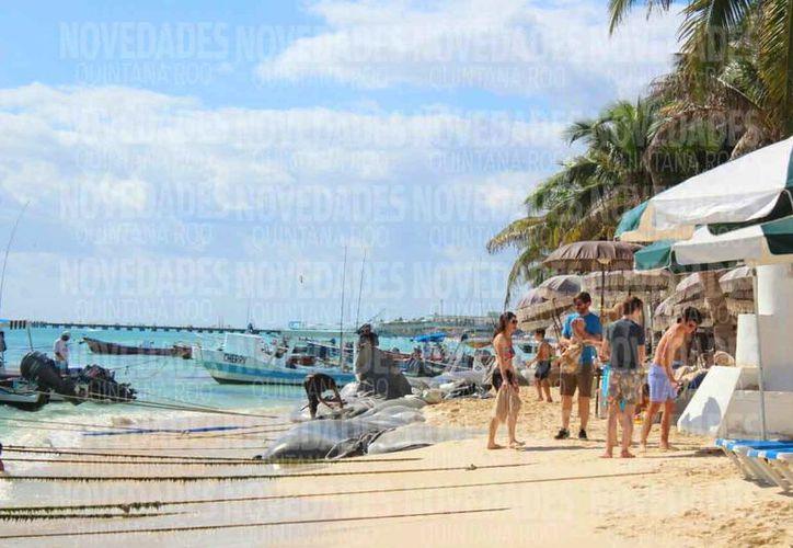 Las playas de la Riviera Maya presentan una gran afectación. (Daniel Pacheco/SIPSE)