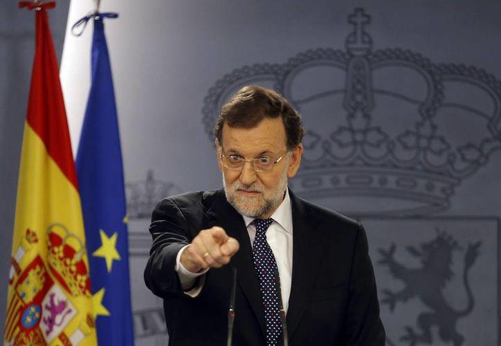 El presidente Mariano Rajoy dijo que su gobierno garantiza que Cataluña no conseguirá su independencia. (Agencias)