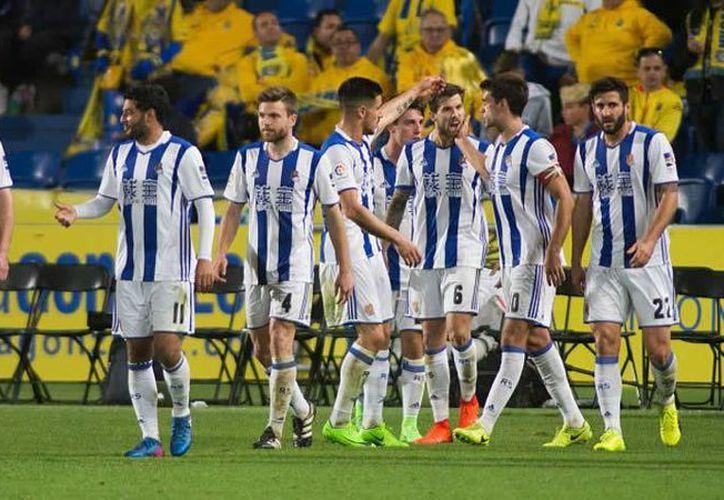 Con su victoria sobre Las Palmas, Real Sociedad ascendió al quinto puesto en la Liga de España a la espera de otros resultados. (LaLiga.com)