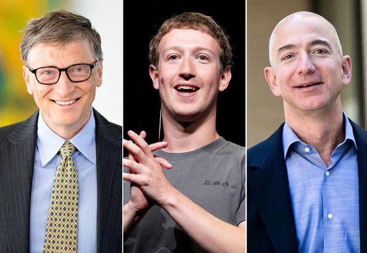 La lista de los más ricos de EU la encabezan Bill Gates, Jeff Bezos y Mark Zuckerberg. (Agencias/Archivo)