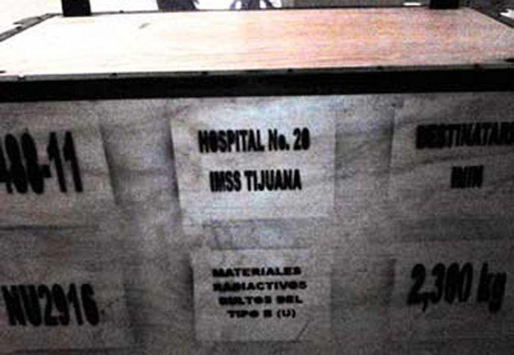 El equipo robado, usado para radioterapia, pertenecía al IMSS. (Agencias)