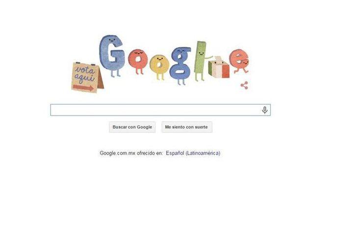 Google publicó este día un doodle conmemorativo sobre las elecciones que se llevarán a cabo en el país. (Google.com)