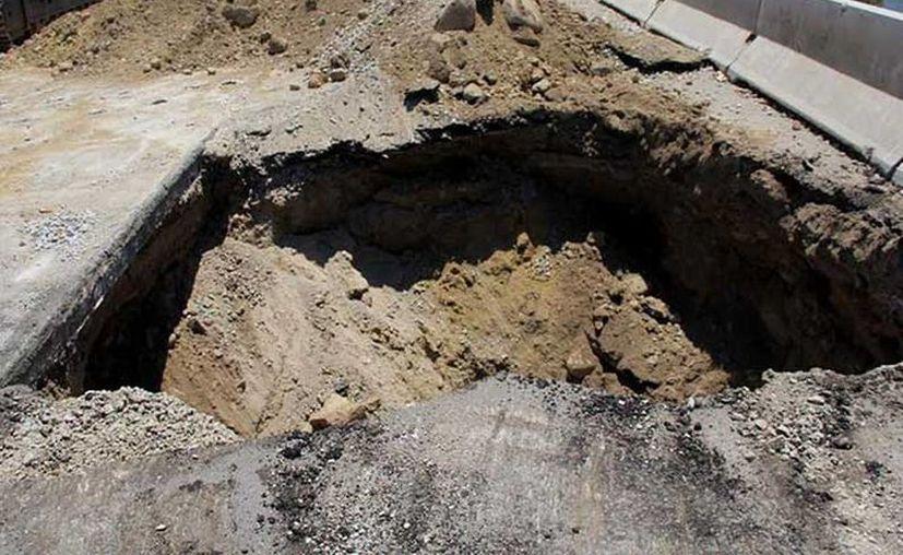 Las reparaciones de los hundimientos tendrán un costo de un mdp y se realizarán en 30 días. (Arturo Salinas/Excelsior)