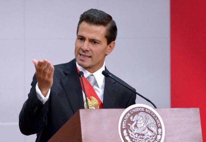 Peña Nieto ofreció un mensaje a la Nación este miércoles con motivo de su tercer informe de gobierno. (Presidencia)
