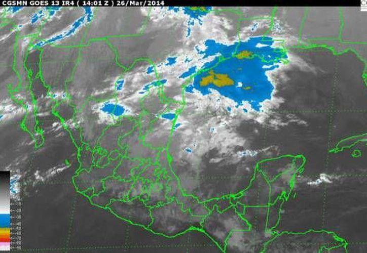 Persistirá la entrada de aire marítimo tropical con poco contenido de humedad hacia la Península de Yucatán. (Conagua)