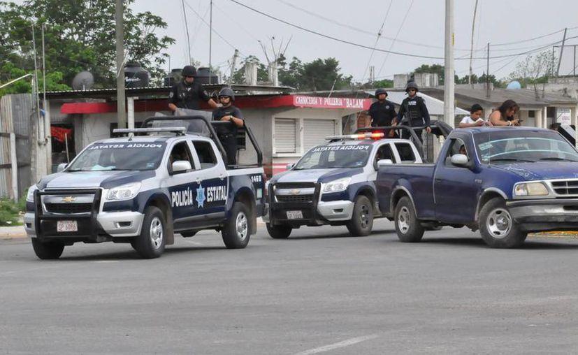 Policías municipales, estatales, el Ejército y la Marina-Armada de México implementaron un operativo en la Ribera del Río Hondo. (Redacción/SIPSE)