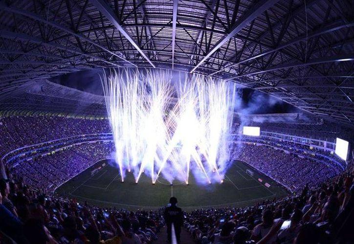 El nuevo estadio de los Rayados de Monterrey fue edificado sobre un terreno de 24.5 hectáreas en el parque La Pastora, en Guadalupe, Nuevo León. (Mexsport)