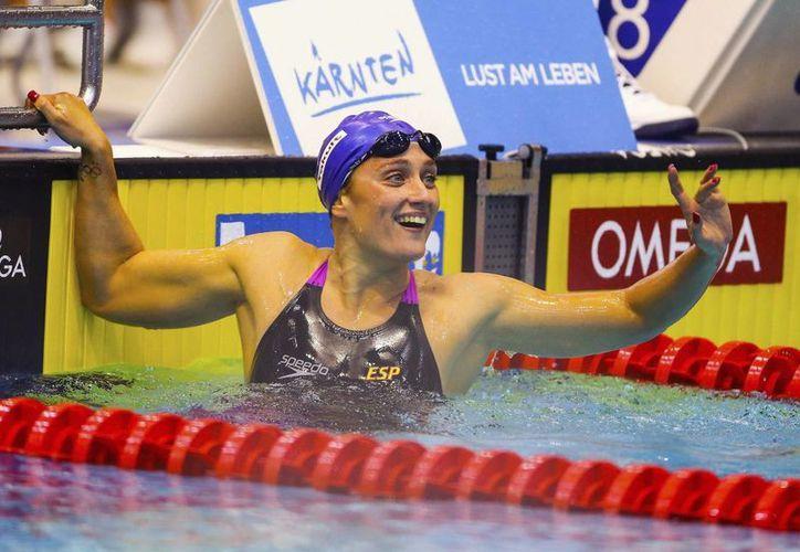 La nadadora catalana paró el reloj en 7:59.34. (Foto: Agencias)