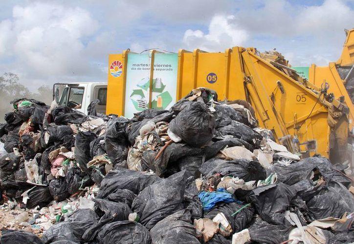 Alrededor de 900 toneladas de basura diarias se recolectan en el municipio de Benito Juárez. (Cortesía/SIPSE)