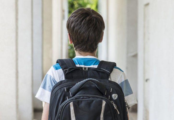 El peso de las mochilas puede dañar la columna vertebral de las y los estudiantes. (AP)
