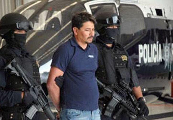 Arnoldo Rueda Medina en 2009 cuando fue capturado por la Policía Federal. (Milenio)
