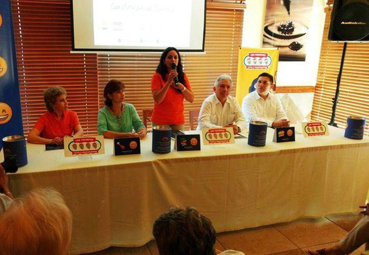 Imagen de la conferencia de prensa donde se anunció el inicio de la colecta anual 'Construyendo Sonrisas'. (José Acosta/Milenio Novedades)