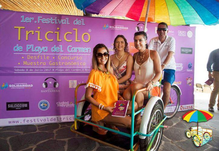 El festival busca recordar la manera en que los triciclos se han convertido en un icono en Playa del Carmen. (Foto: Facebook)