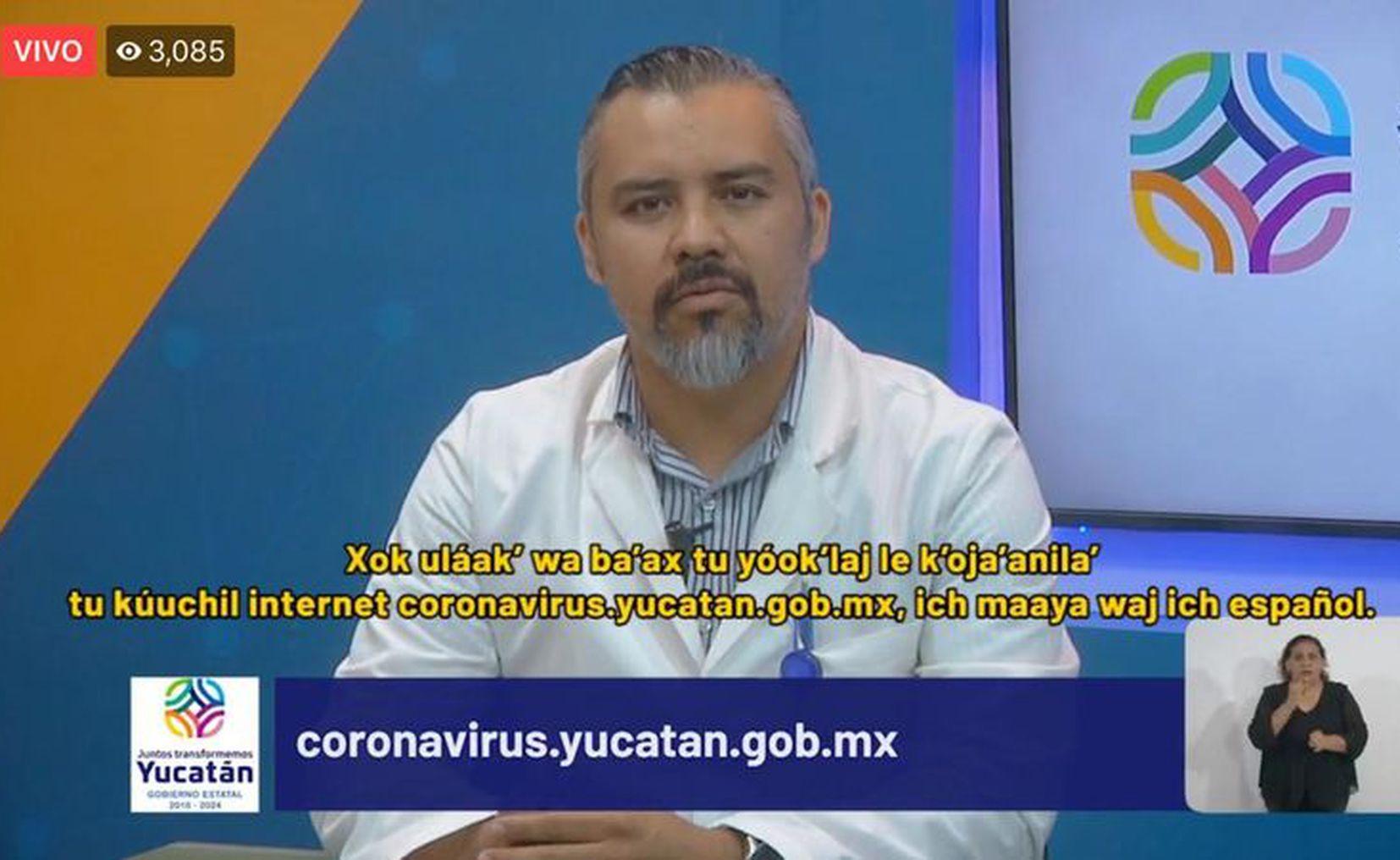 Informan del primer muerto por Covid-19 en Yucatán