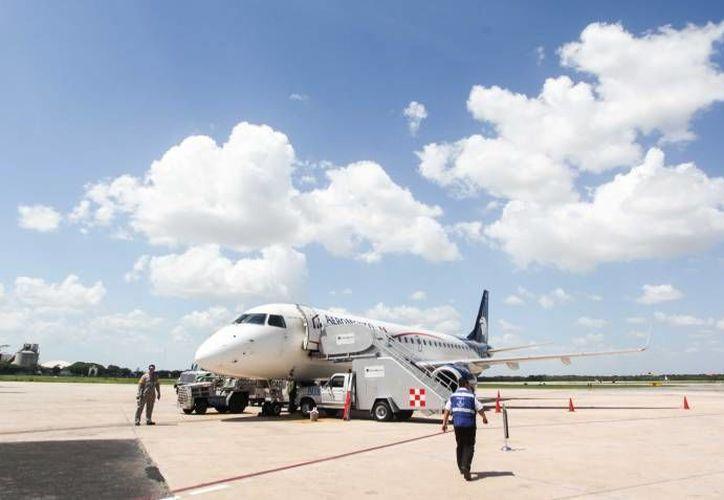 La saturación de los vuelos procedentes de la ciudad de México a Mérida, que ha sido cotidiana durante noviembre, continuará en el mes de diciembre. (Foto de contexto de SIPSE)
