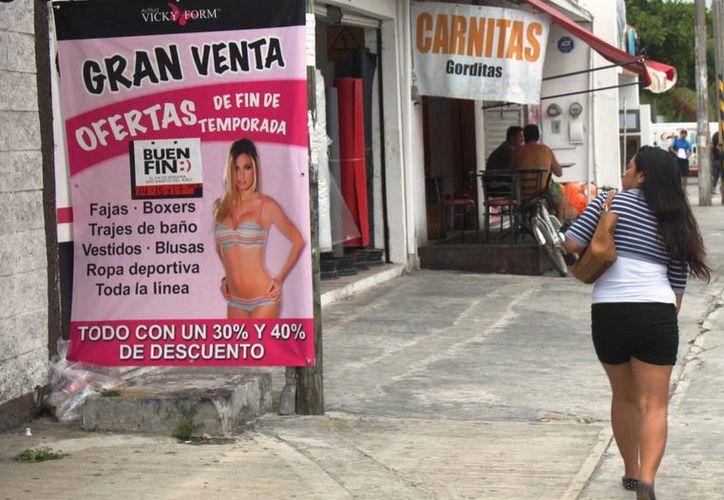 """Más de 100 empresas colocaron publicidad alusiva a """"El Buen Fin"""" sin haberse inscrito en dicha campaña. (Daniel Pacheco/SIPSE)"""