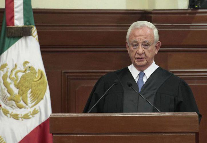 El ministro Juan Silva Meza, presidente de la Suprema Corte de Justicia de la Nación, rindió rindió su informe anual este viernes. (Notimex)