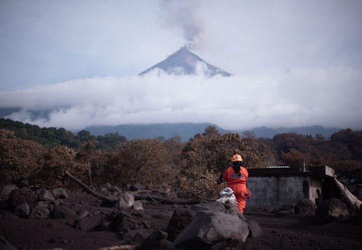 San Miguel Los Lotes, situada en la llamada 'zona cero', fue la más devastada por la erupción. (Twitter)