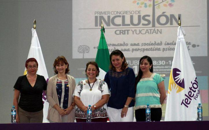 Representantes de diversas asociaciones inauguraron el Primer Congreso de Inclusión CRIT Yucatán. (Milenio Novedades)