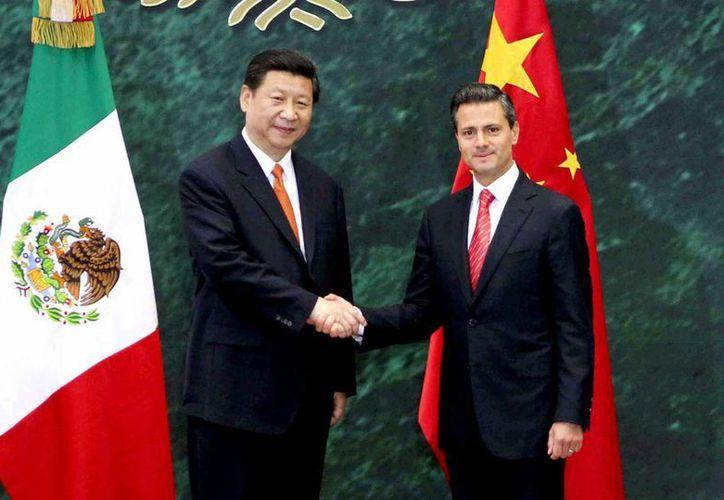 Los mandatarios destacaron la unión entre los pueblos de México y China. (presidencia.gob.mx)